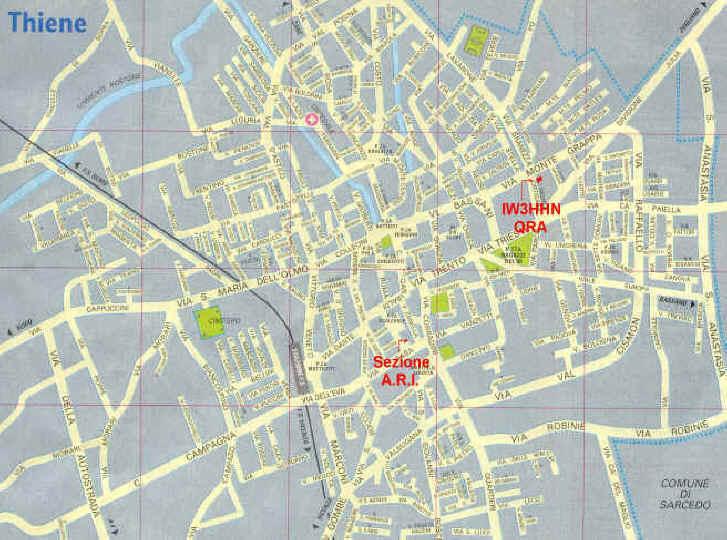 Pagina della mappa di thiene for Mappa della costruzione di casa